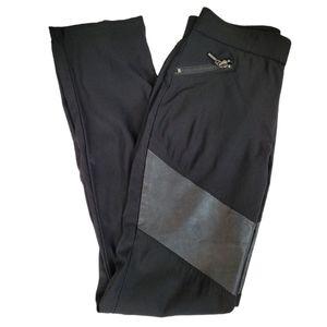 SIMON CHANG Pants Leggings Black Pull-Up